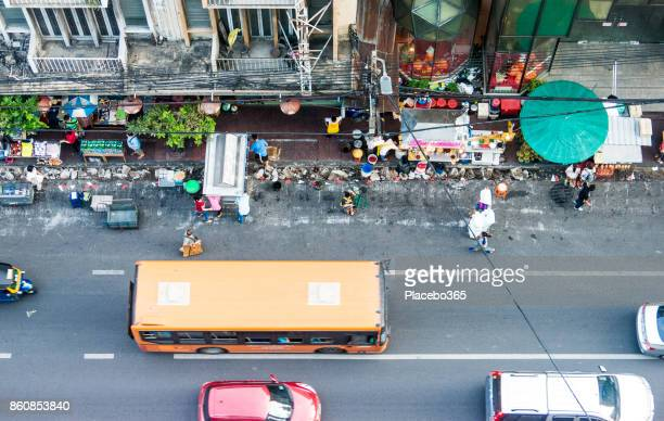 rush hour traffic, chinatown, bangkok, thailand - association of southeast asian nations stock pictures, royalty-free photos & images