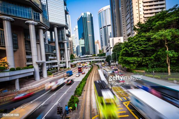 Rush Hour Traffic in Hong Kong