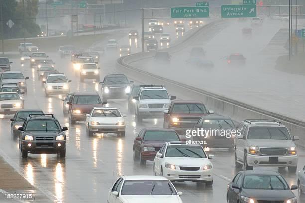 Rush Hour Traffic in the Rain