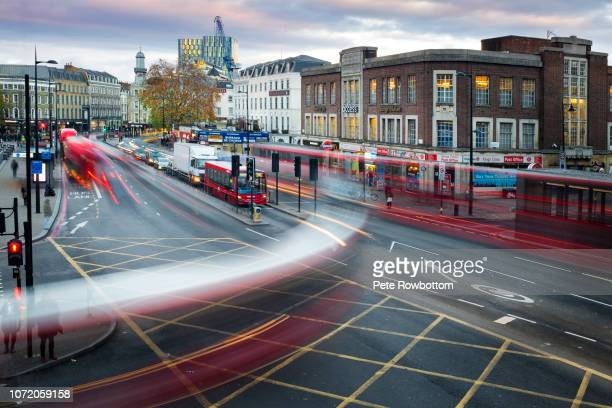 rush hour trafiic - city of london stockfoto's en -beelden