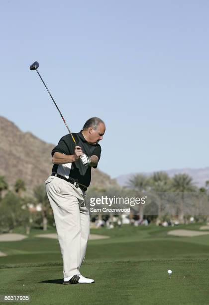 Rush Limbaugh in action during the third round of the Bob Hope Chrysler Classic held at the Palmer Private Course at PGA West in La Quinta California...