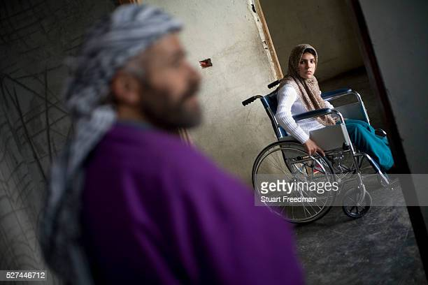 Rusha Zayoun 17 who lost her leg to a cluster bomb when her father brought it inside the house and it exploded She has not been to school since and...