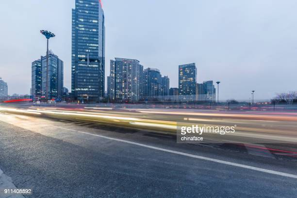 rush-hour traffic in downtown shanghai