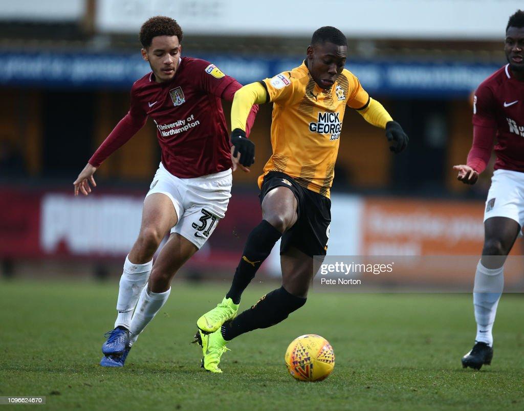 Cambridge United v Northampton Town - Sky Bet League Two : News Photo