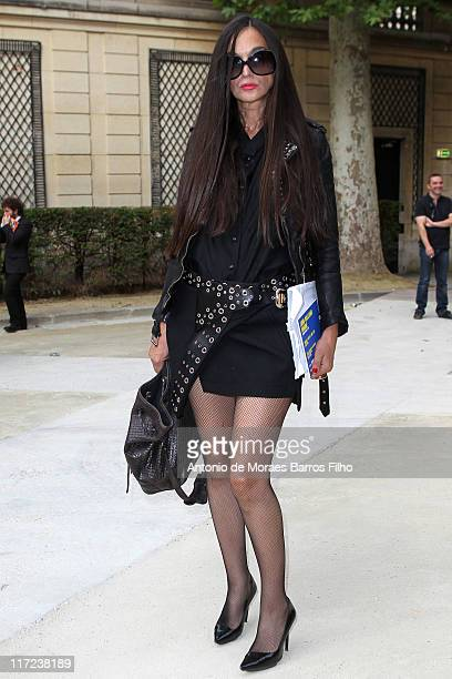 Rushka Bergman attends the John Galliano Menswear Spring/Summer 2012 show as part of Paris Fashion Week at on June 24 2011 in Paris France