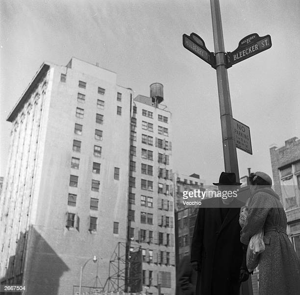 H Rushton Bell director of the Chaplaincy of the New York Protestant Episcopal Mission Society stops outside the headquarters on the corner of...