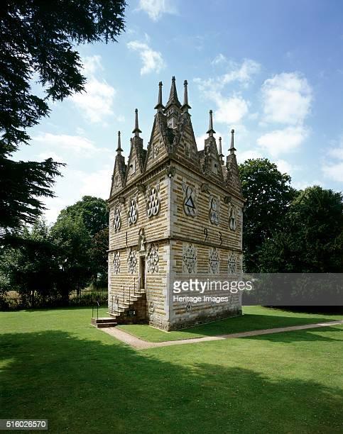 Rushton Triangular Lodge, Northamptonshire. View from the north-east. Rushton Triangular Lodge was built in 1597 by Sir Thomas Tresham, a Roman...