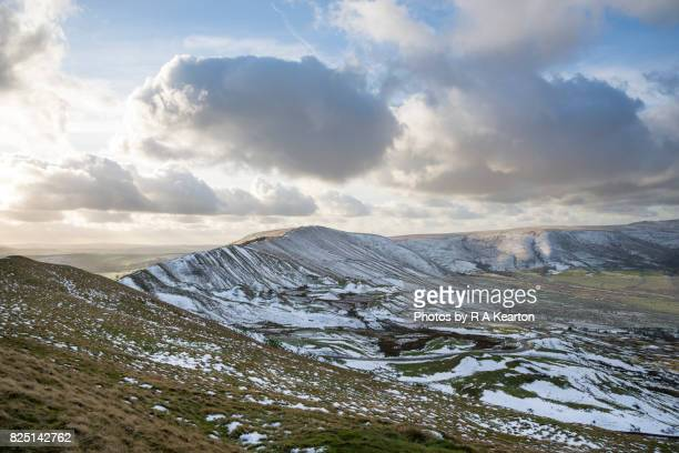 Rushup edge on a snowy winter day, Derbyshire, England