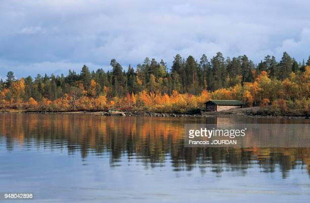 couleurs vives produites dans le paysage par les premières gelées d'automne