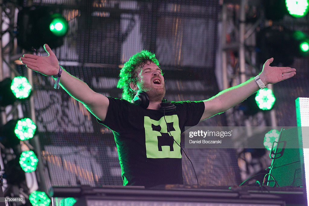 Rusko performs during the 2013 Wavefront Music Festival at Montrose Beach on July 6, 2013 in Chicago, Illinois.