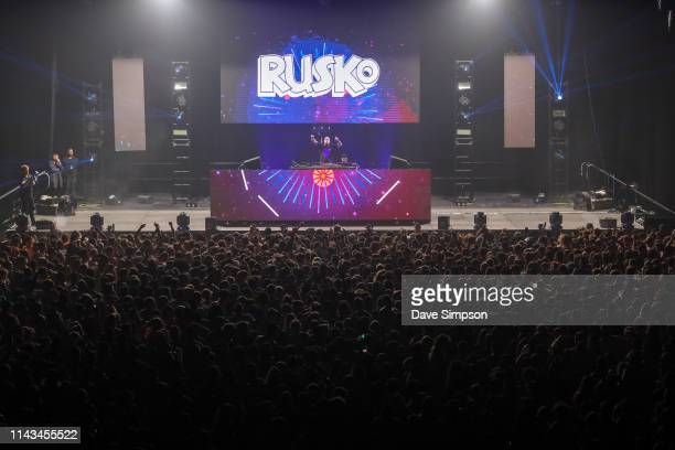 Rusko performs on stage at Spark Arena on April 18 2019 in Auckland New Zealand