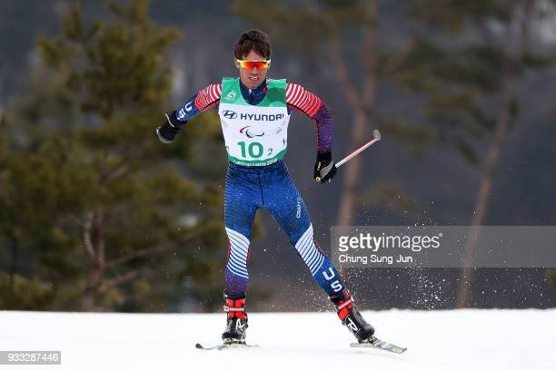 Ruslan Reiter of United States competes in the CrossCountry Skiing 4x25km Mixed Relay during day nine of the PyeongChang 2018 Paralympic Games on...
