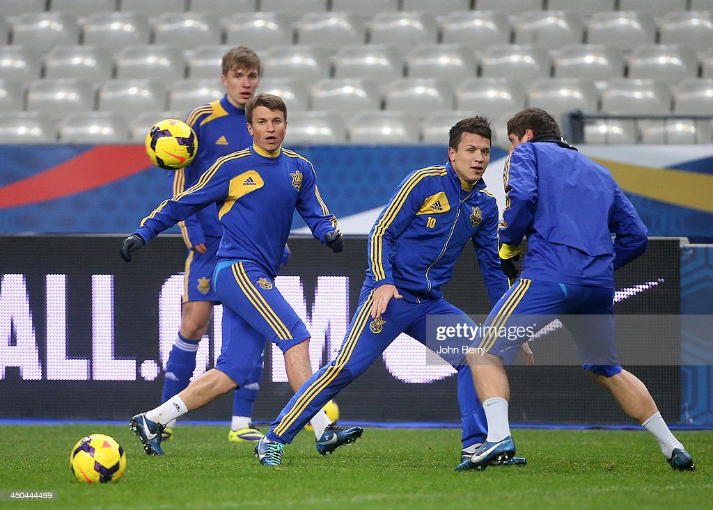 Ukraine Training Session And Press Conference