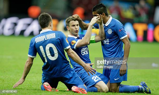 Ruslan Rotan of Dnipro Dniepropietrovsk celebrating a goal during the UEFA Europa League Final match between Sevilla FC and Dnipro Dnipropietrovsk on...