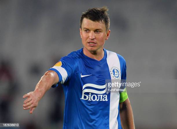 Ruslan Rotan of FC Dnipro Dnipropetrovsk in action during the UEFA Europa League group stage match between CS Pandurii Targu Jiu and FC Dnipro...