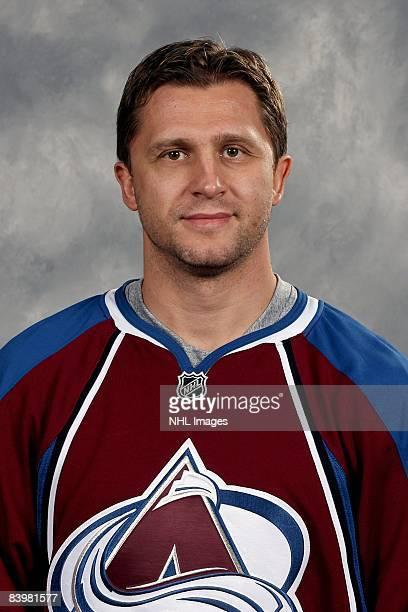 Ruslan Salei of the Colorado Avalanche poses for his official headshot for the 20082009 NHL season