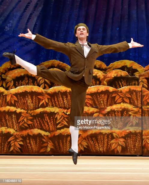 Ruslan Skvortsov as The Classical Dancer in The Bolshoi Ballet's production of Alexei Ratmansky's The Bright Stream at The Royal Opera House on...