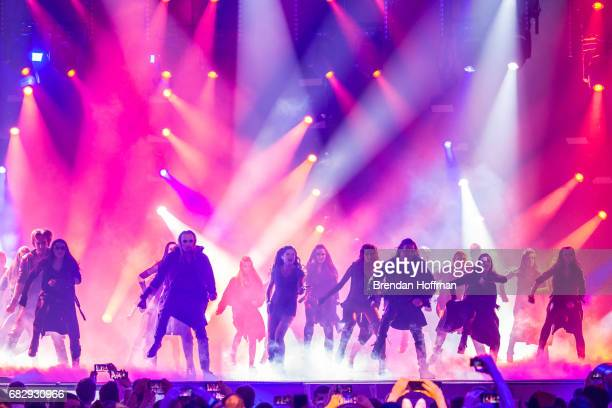 Ruslana the Ukrainian winner of the 2004 Eurovision contest performs at the Eurovision Grand Final on May 14 2017 in Kiev Ukraine Ukraine is the 62nd...