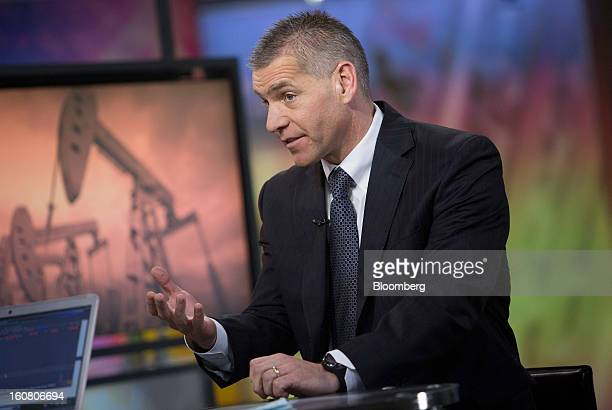 Russ Girling chief executive officer of TransCanada Corp speaks during an interview in New York US on Wednesday Feb 6 2013 A US rejection of...