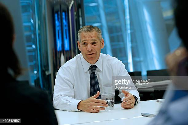 Russ Girling chief executive officer of TransCanada Corp speaks during an interview in New York US on Wednesday May 21 2014 The industry has become...