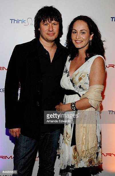 Russ Irwin and Roseanna Barba attend the Primary Wave Music Publishing preGrammy party at SLS Hotel on February 7 2009 in Los Angeles California