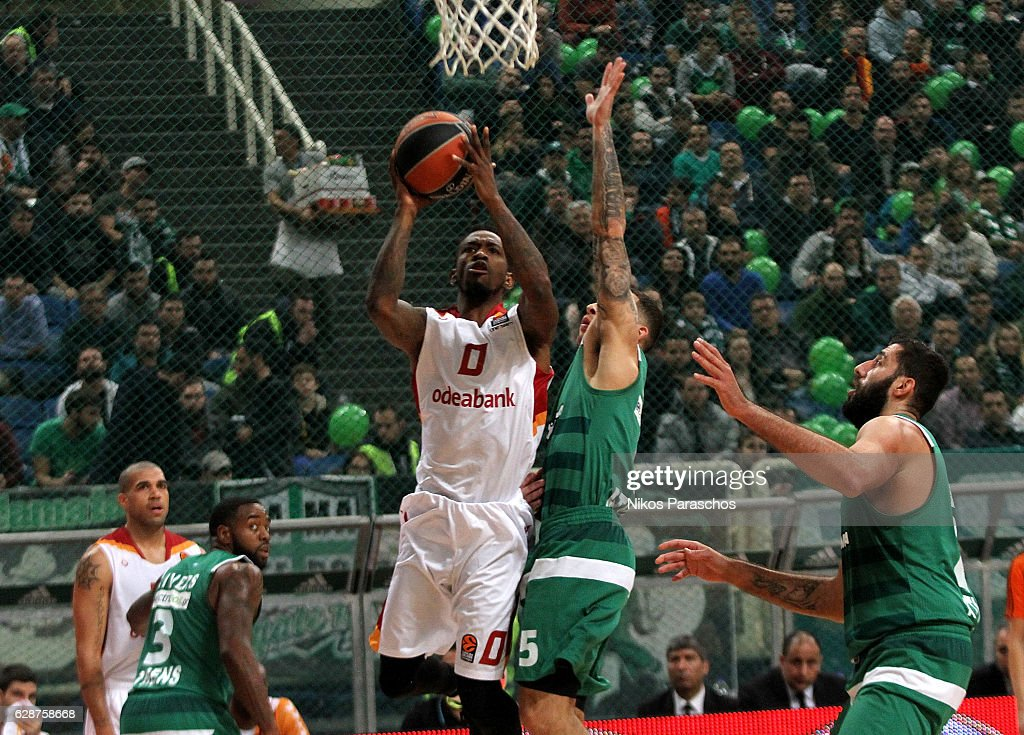 Russ Smith, #0 of Galatasaray Odeabank Istanbul in action during the 2016/2017 Turkish Airlines EuroLeague Regular Season Round 11 game between Panathinaikos Superfoods Athens v Galatasaray Odeabank Istanbul at Olympic Sports Center Athens on December 9, 2016 in Athens, Greece.