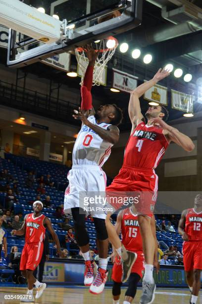 Russ Smith of the Delaware 87ers goes up for a shot during the game against the Maine Red Claws on February 14 2017 at the Bob Carpenter Center in...