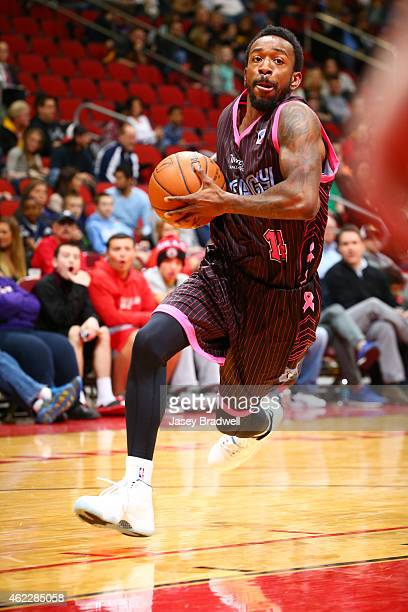 Russ Smith of the Iowa Energy drives to the basket against the Grand Rapids Drive in an NBA DLeague game on January 24 2015 at the Wells Fargo Arena...