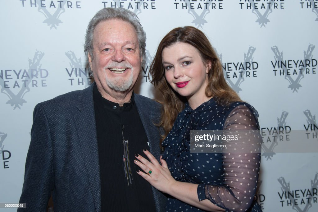 Russ Tamblyn (L) and Actress Amber Tamblyn attend 'Can You Forgive Her?' Opening Night at the Vineyard Theatre on May 21, 2017 in New York City.