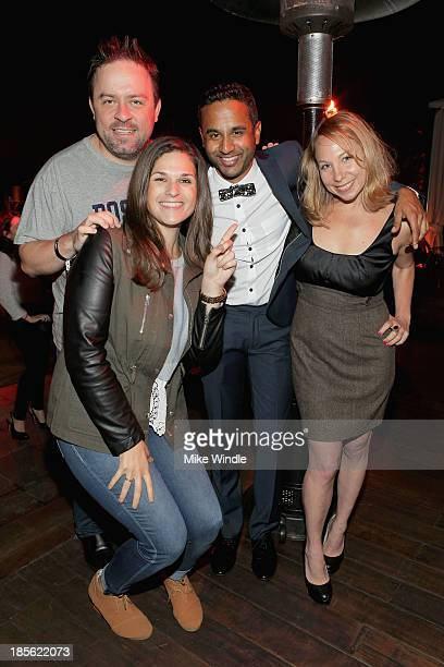 Russ Weakland Jenna Oppenheim Chet Mehta and Jen Birn attend PR DEPT Celebrates #onedown 1 Year Anniversary Party at Thompson Hotel on October 22...