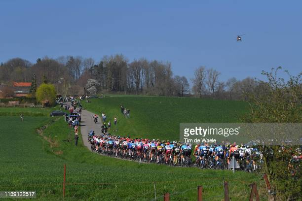 Russeignies / Peloton / Landscape / Fans / Public / during the 62nd E3 Harelbeke 2019 a 203,9km race from Harelbeke to Harelbeke /...