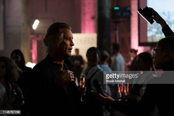 Russel James attends the Angels by Russell James Australian Book Launch during MercedesBenz Fashion Week Resort 20 Collections at Carriageworks on...