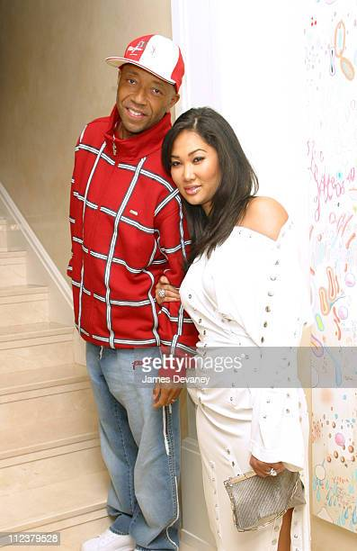 Russel Simmons and Kimora Lee Simmons during The Foundation for Ethnic Understanding Honors JayZ and Barry Weiss of Jive Records at Home of Denise...