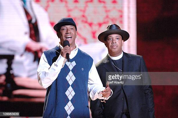 Russel Simmons and Reverend Run during 2005 VH1 Hip Hop Honors Show at Hammerstein Ballroom in New York City New York United States