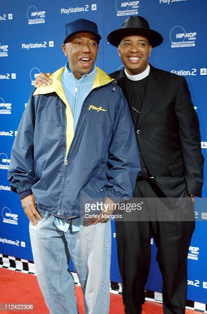 Russel Simmons and Reverend Run during Sony Playstation 2 Teams with Russel Simmons and the HipHop Summit Action Network to Race to the Polls...