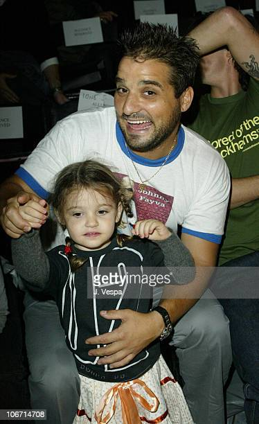 Russel Steinberg and daughter Antonia during MercedesBenz Shows LA Fashion Week Spring 2004 Jenni Kayne Backstage and Front Row at The Standard...