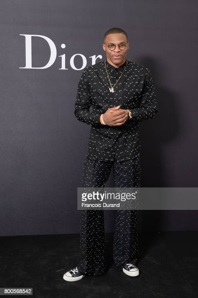 Russel Westbrook attends the Dior Homme Menswear Spring/Summer 2018 show as part of Paris Fashion Week on June 24 2017 in Paris France