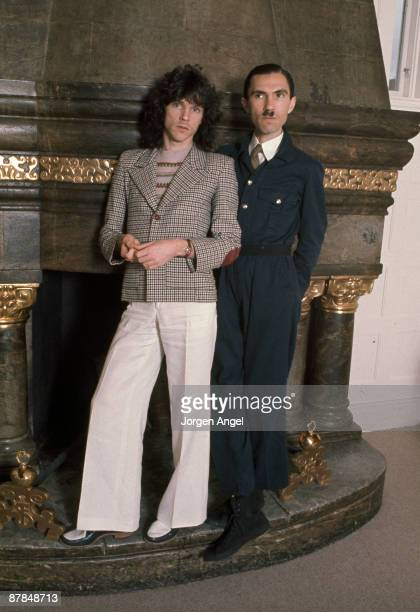 Russell and Ron Mael from Sparks posed in Copenhagen, Denmark in 1975