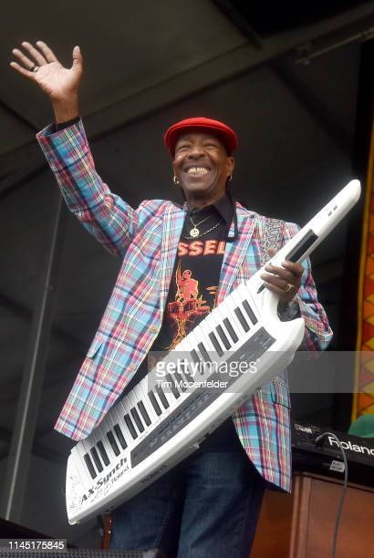 Russell Batiste Sr. Of Russell Batiste & Friends performs during the 2019 New Orleans Jazz & Heritage Festival 50th Anniversary at Fair Grounds Race...
