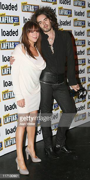 Russell Brand and Abi Titmus during 2006 Loaded Lafta Comedy Awards - Arrivals at Sketch in London, Great Britain.