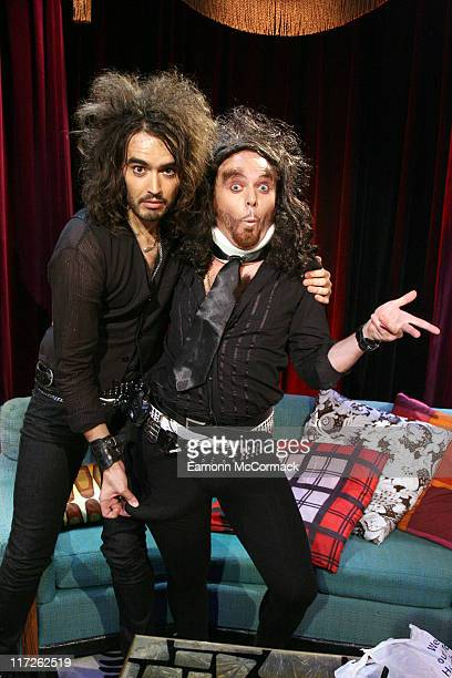 Russell Brand and Avid Merrion appearing on No 1 Leicester SquareThe show will be broadcast on MTV at 1000pm on Monday