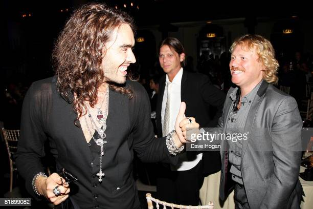 Russell Brand and Avid Merrion attend a performance at the Black Ball UK in aid of the Keep A Child Alive HIV/AIDS charity at St John's, Smith Square...