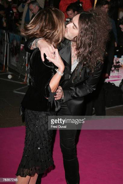 Russell Brand and his mother attend the World premiere of St Trinian's at the Empire Leicester Square on December 10 2007 in London England