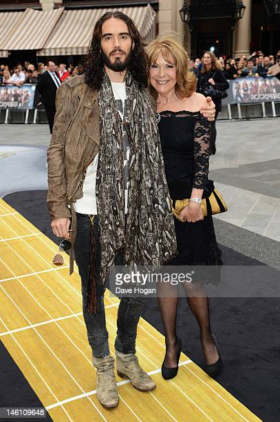 Russell Brand and his mother Barbara Brand attend the European premiere of Rock Of Ages at The Odeon Leicester Square on June 10 2012 in London...
