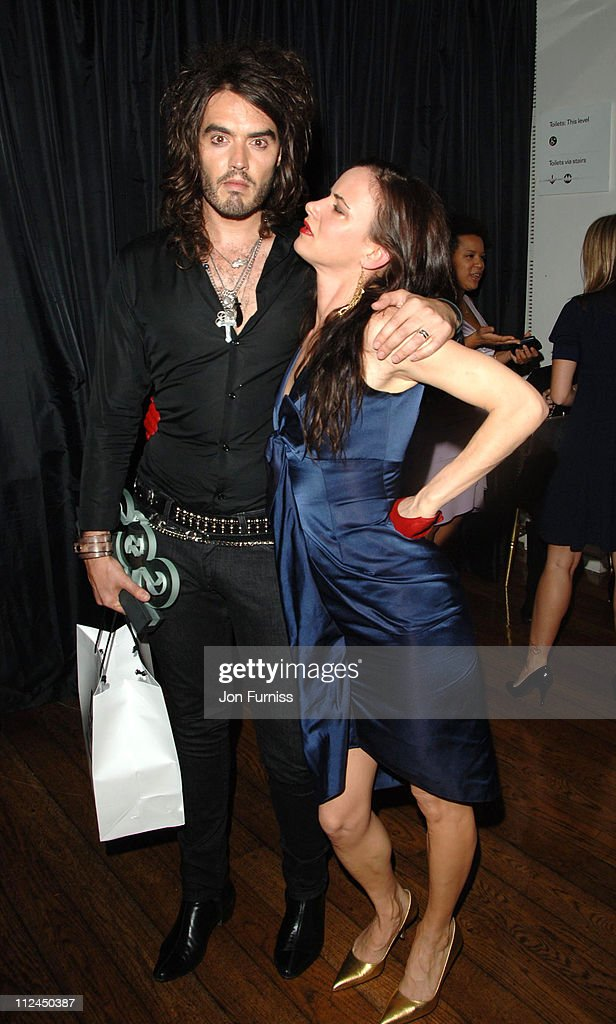 Russell Brand and Juliette Lewis during GQ Men of the Year Awards - Drinks Reception at Royal Opera House in London, Great Britain.