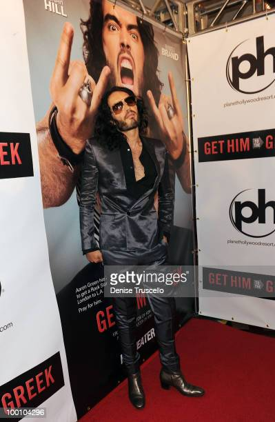 Russell Brand arrives at a screening of Universal Pictures' Get Him to the Greek at the Planet Hollywood Resort Casino May 20 2010 in Las Vegas Nevada