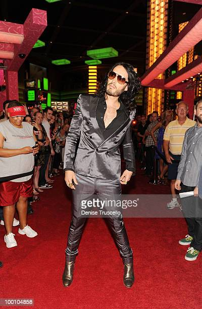 Russell Brand arrives at a screening of Universal Pictures' Get Him to the Greek at the Planet Hollywood Resort Casino May 20 2010 in Las Vegas...