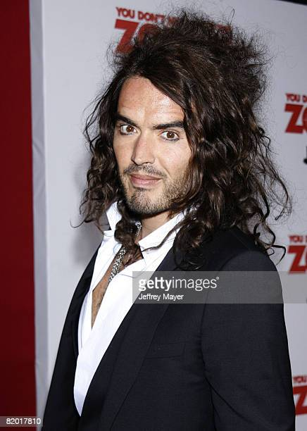 """Russell Brand arrives at Sony Pictures Premiere of """"You Don't Mess With the Zohan"""" on May 28, 2008 at Grauman's Chinese Theatre in Hollywood,..."""