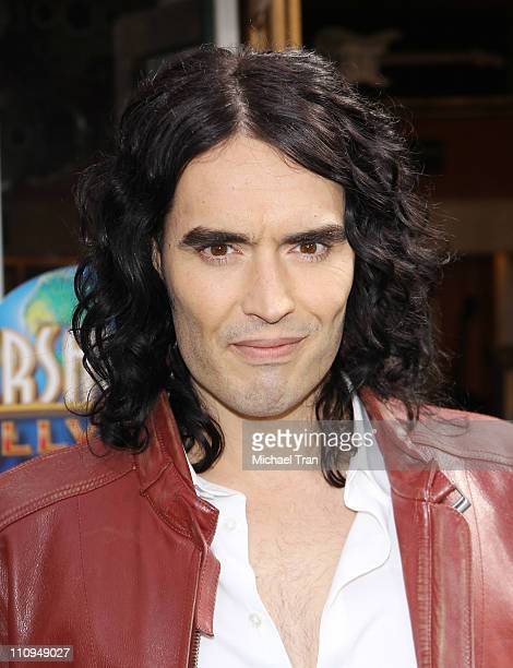 Russell Brand arrives at the Los Angeles premiere of HOP held at Universal Studios Hollywood on March 27 2011 in Universal City California