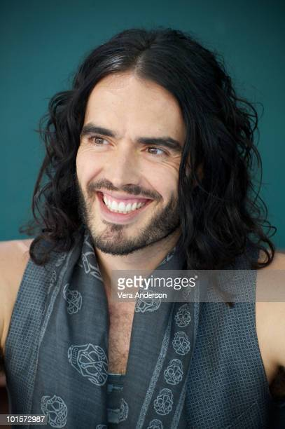 Russell Brand at the 'Get Him To The Greek' Press Conference at The Greek Theatre on May 22 2010 in Los Angeles California